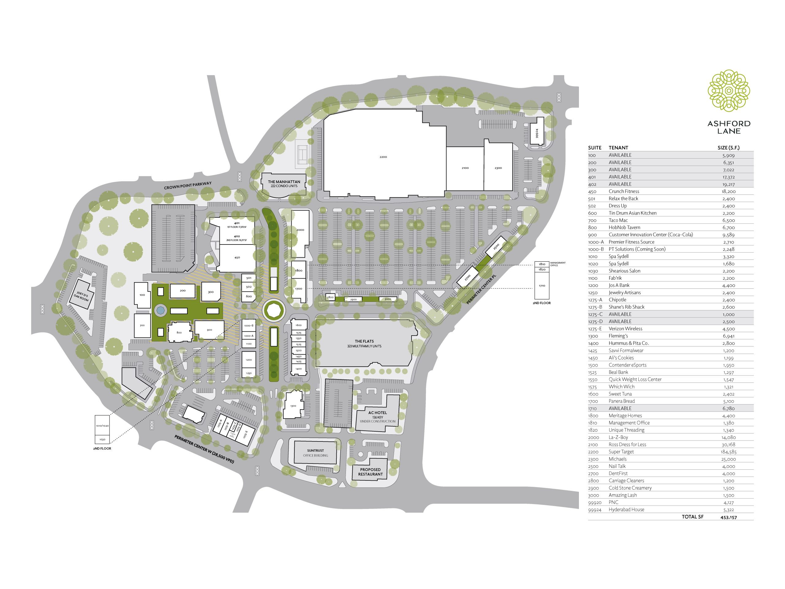 Ashford Lane (Formerly Perimeter Place) Site Plan